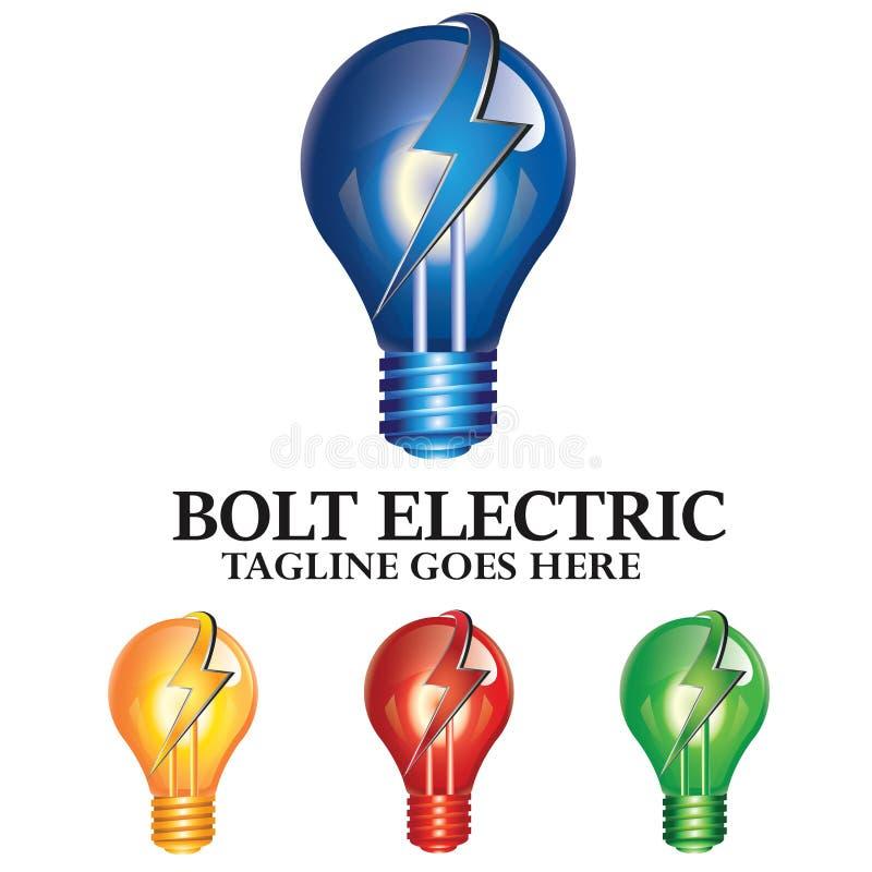Concept électrique Logo Design de tonnerre de boulon léger photo libre de droits