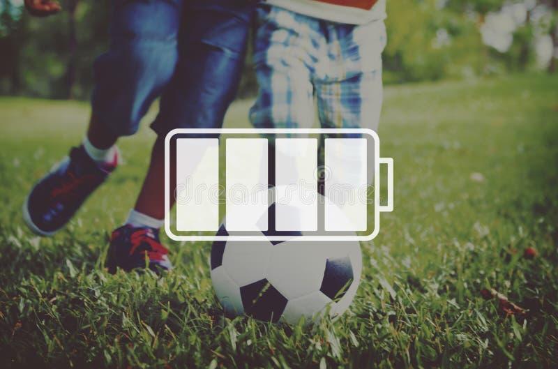 Concept électronique de puissance rechargeable d'énergie de batterie photos libres de droits