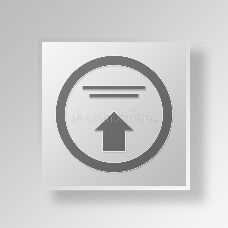 concept élevé d'affaires d'icône des ventes 3D illustration de vecteur