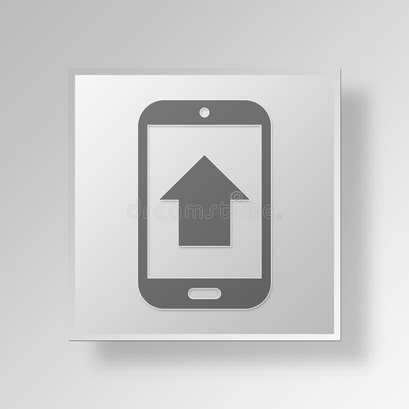 concept élevé d'affaires d'icône des ventes 3D illustration stock