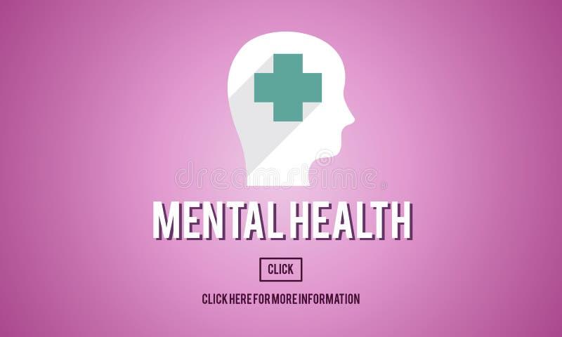 Concept émotif de psychologie de médecine de santé mentale illustration libre de droits