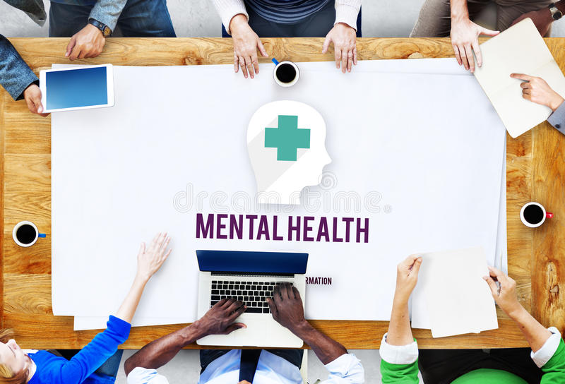 Concept émotif de psychologie de médecine de santé mentale images libres de droits