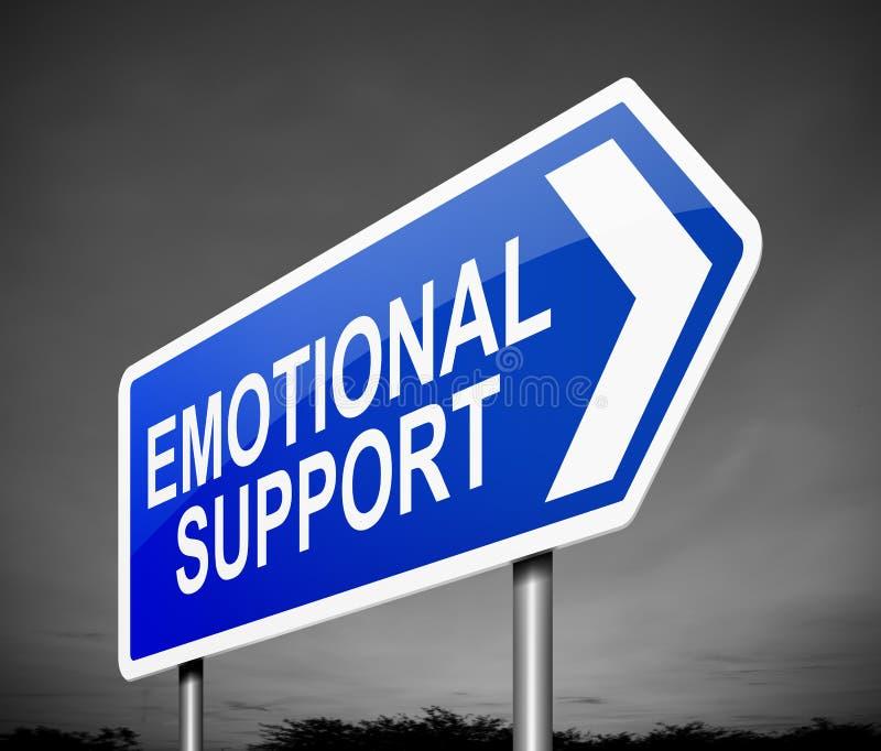 Concept émotif de soutien illustration stock