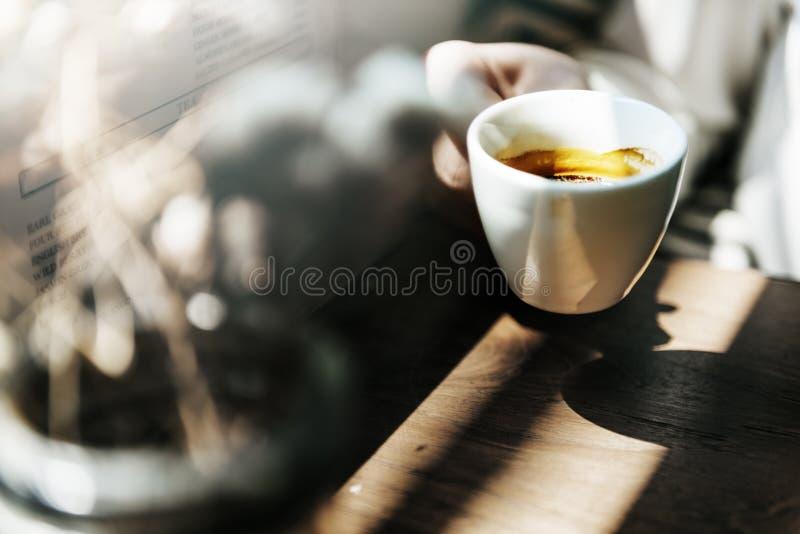 Concept éveillé gai de café de café de coupure de boisson de barre image stock