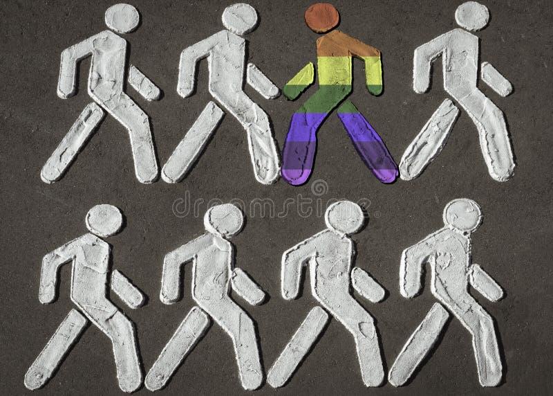 Concept 'komst uit ', strijd voor het recht te zijn zelf, de communautaire strijd van LGBTQ voor hun rechten royalty-vrije stock fotografie