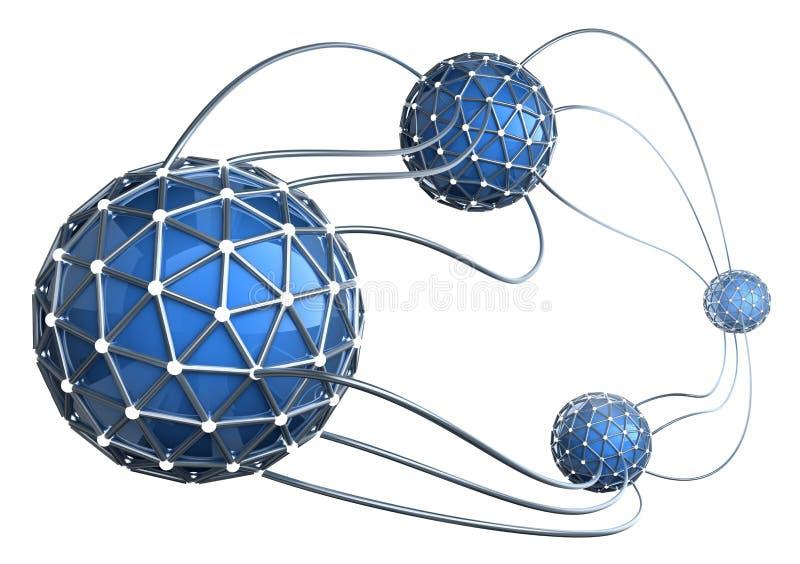 Concept 3D abstrait de réseau illustration de vecteur