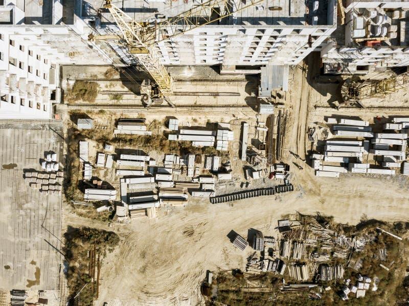 Concept aérien f d'architecture de développement de construction industrielle images libres de droits
