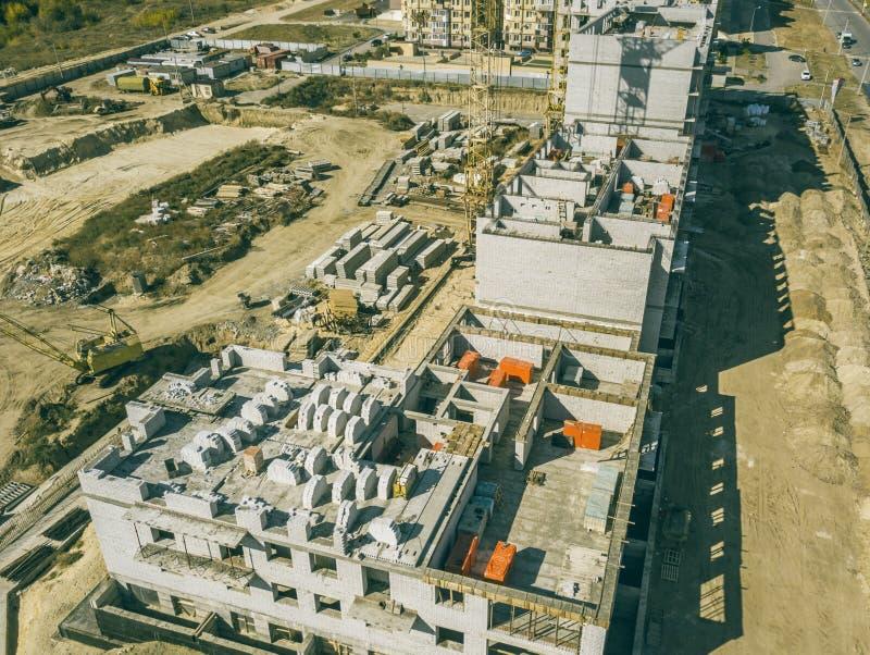 Concept aérien f d'architecture de développement de construction industrielle photographie stock libre de droits