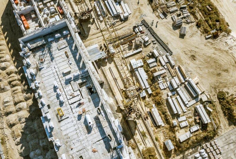 Concept aérien f d'architecture de développement de construction industrielle photos libres de droits