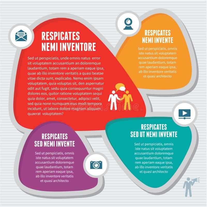 Concept abstrait d'Infographic - plan créatif de conception illustration libre de droits