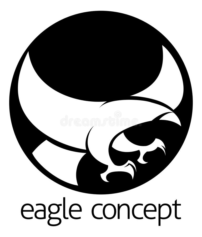 Concept abstrait de cercle d'aigle illustration libre de droits