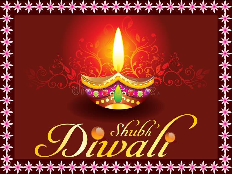 Concept abstrait de diwali de shubh illustration stock
