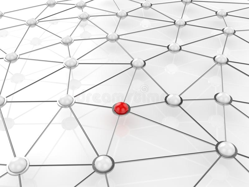 Concept abstrait de réseau de connexion illustration de vecteur
