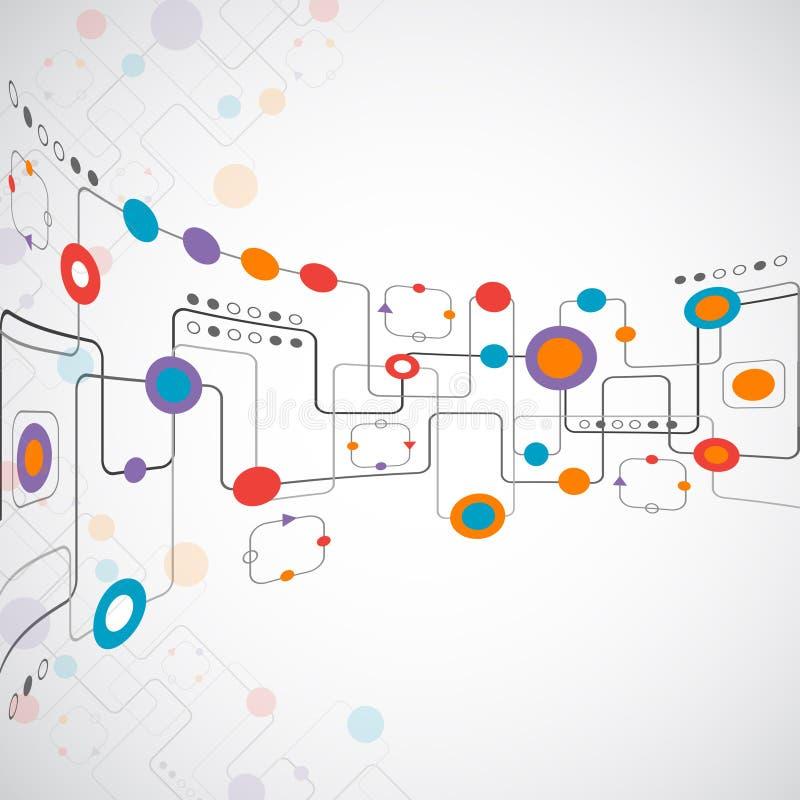 Concept abstrait de réseau de fond de technplogy illustration stock