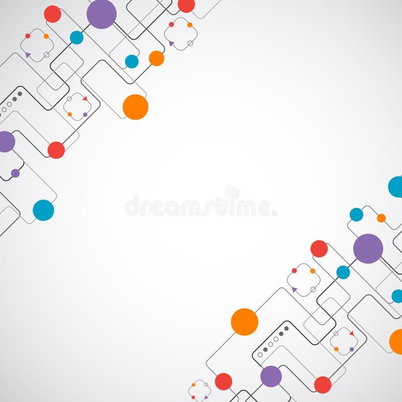 Concept abstrait de réseau de fond de technplogy illustration de vecteur