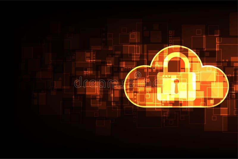 Concept abstrait de sécurité de technologie de fond de vecteur illustration libre de droits