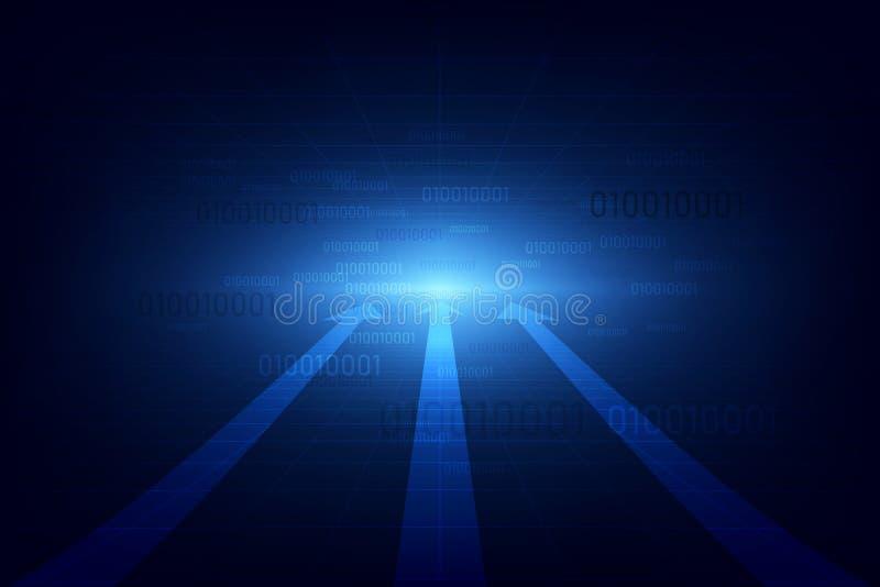 Concept abstrait de technologie de vitesse Fond d'illustration de vecteur illustration stock