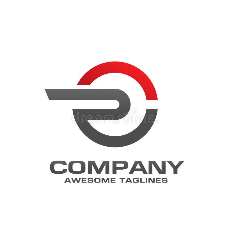 Concept abstrait unique de cercle de logo de la lettre R illustration stock