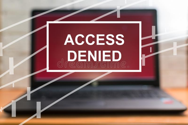 Concept. access is denied royalty free stock photography