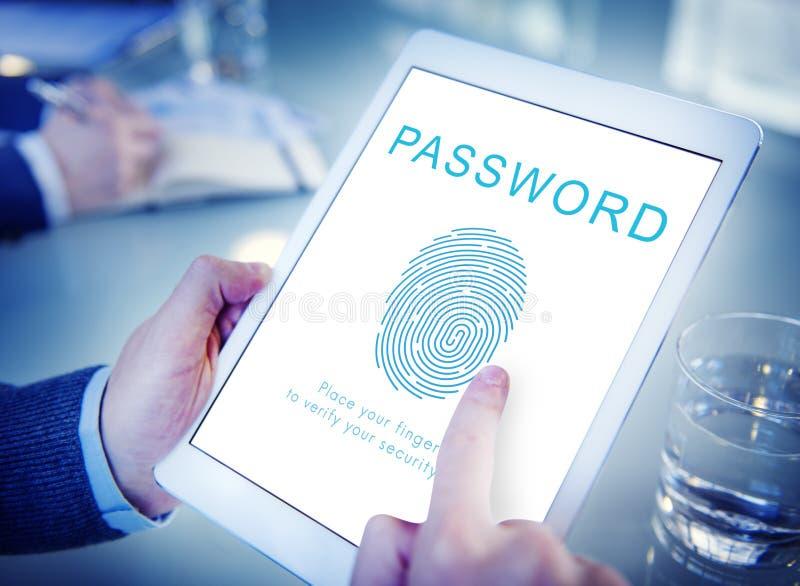 Concept accessible de login de sécurité de mot de passe images stock