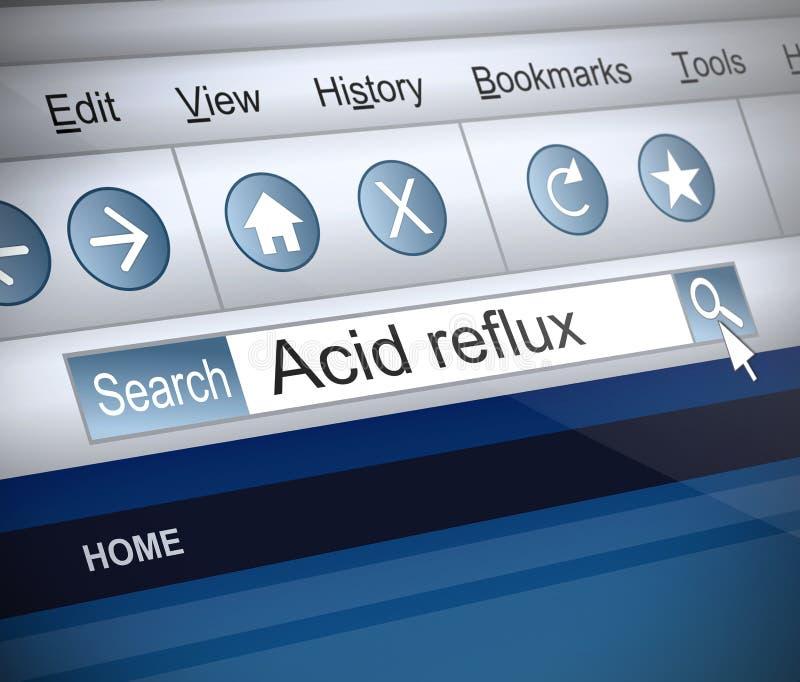 Concept acide de reflux. illustration libre de droits