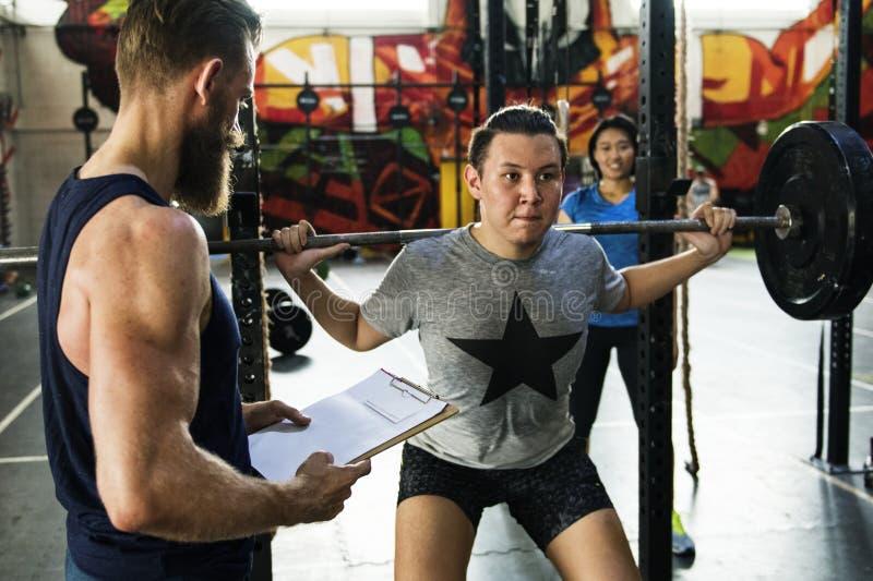 Concept actif de séance d'entraînement de sport de personnes image stock