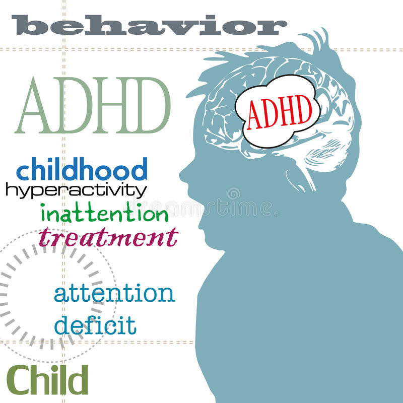 Concept ADHD royalty-vrije illustratie