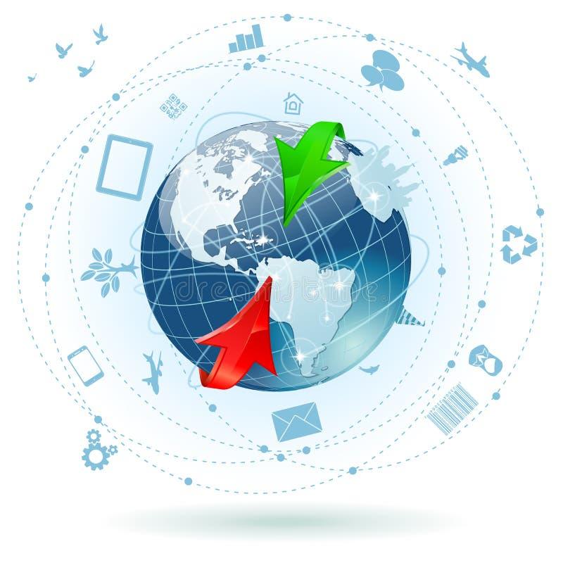 Concept - affaires globales illustration de vecteur