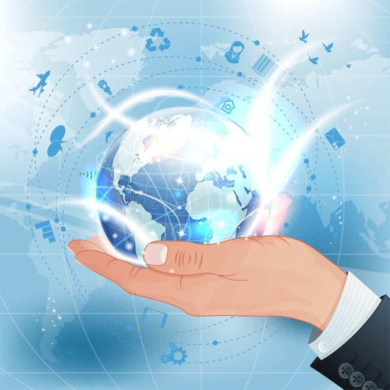 Concept - affaires globales illustration libre de droits