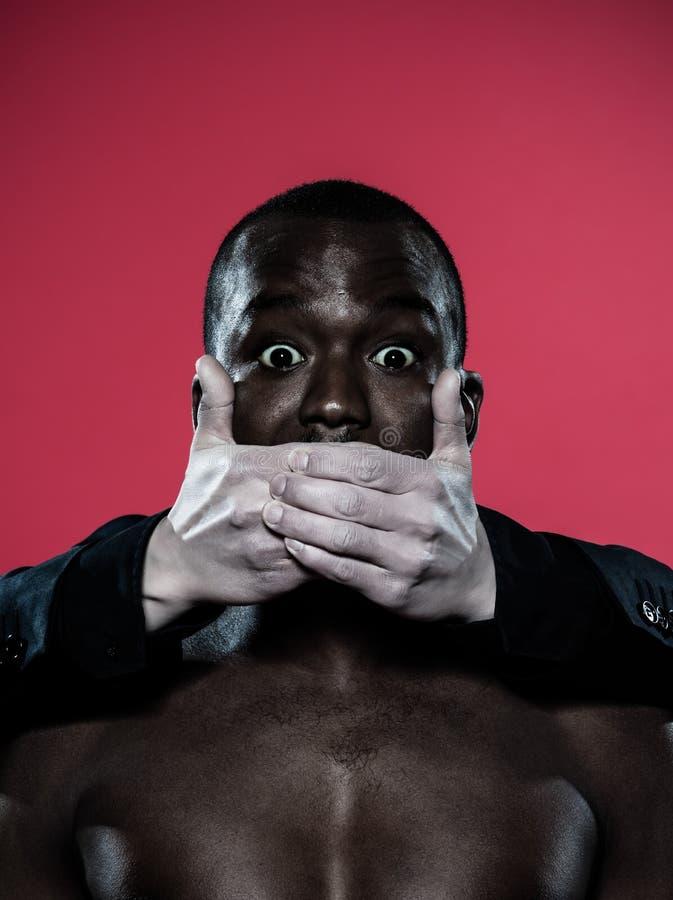 Concept africain de liberté d'expression d'homme photo libre de droits