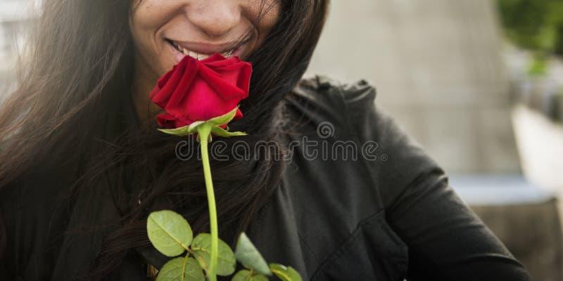 Concept africain de Rose Flower Love Passion Valentine de femme photo stock