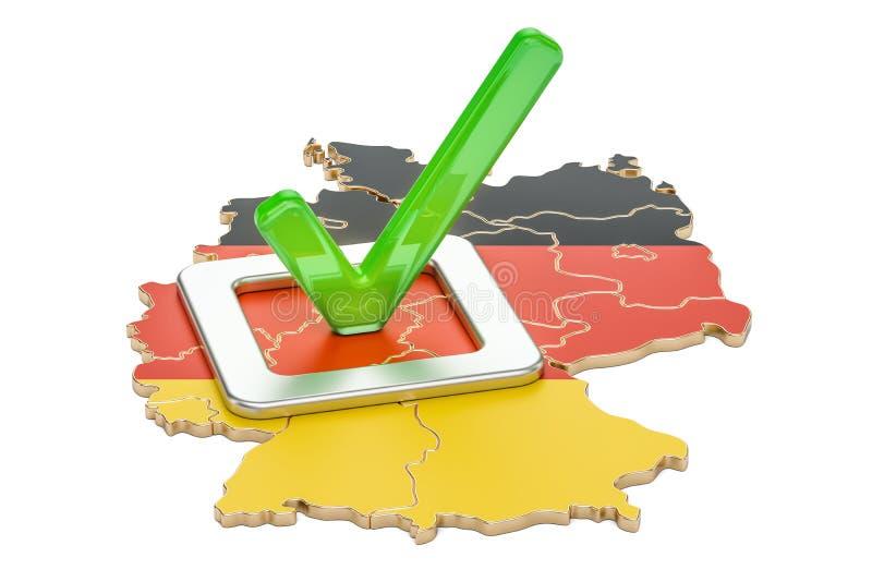 Concept allemand d'élection, vote en Allemagne, rendu 3D illustration stock