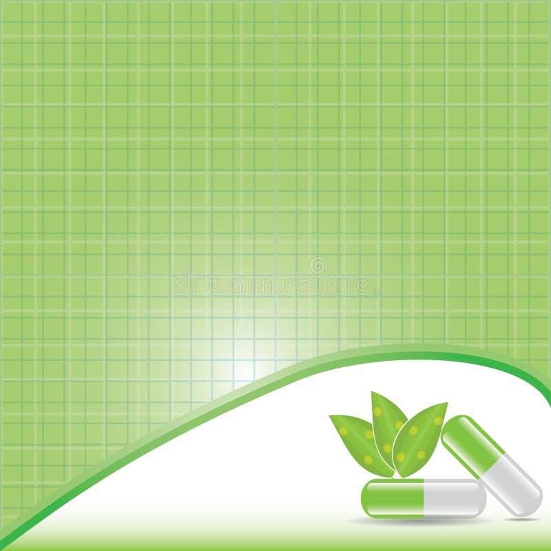 Concept alternatif vert de médicament. illustration de vecteur