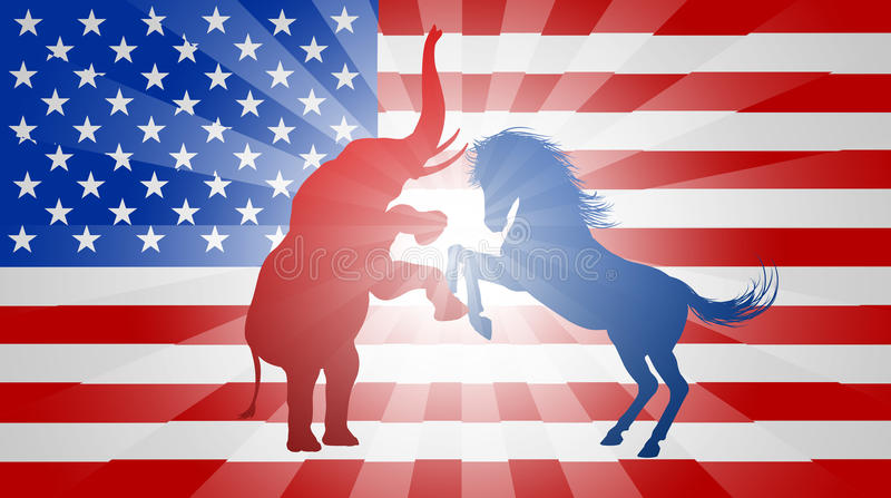 Concept américain d'élection illustration de vecteur