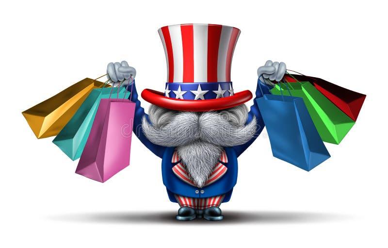 Concept américain d'acheteur illustration stock