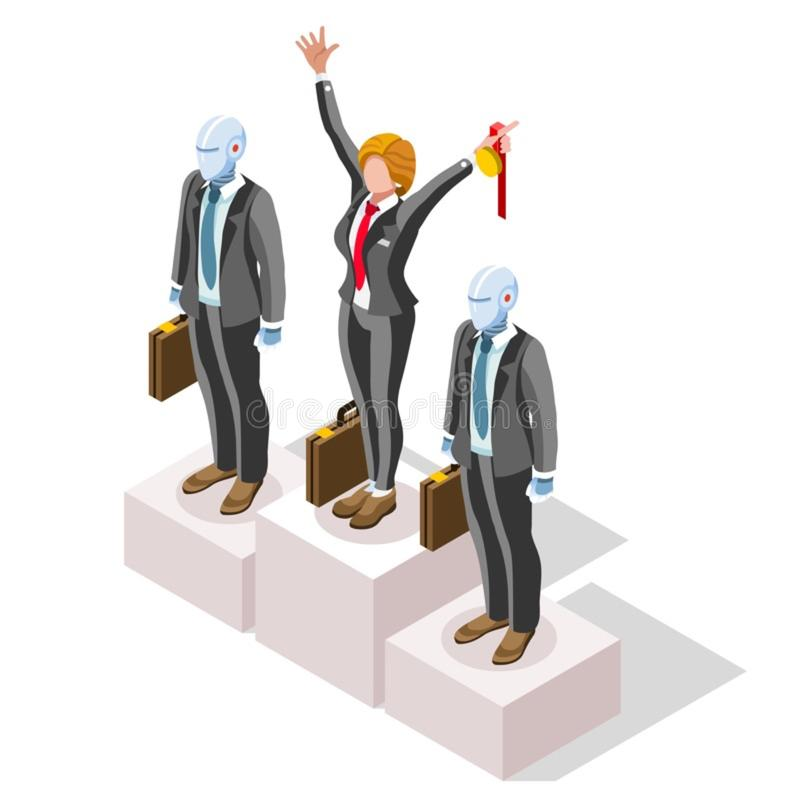 Concept ambitieux de vecteur de Job Ambitions de changement d'affaires illustration de vecteur