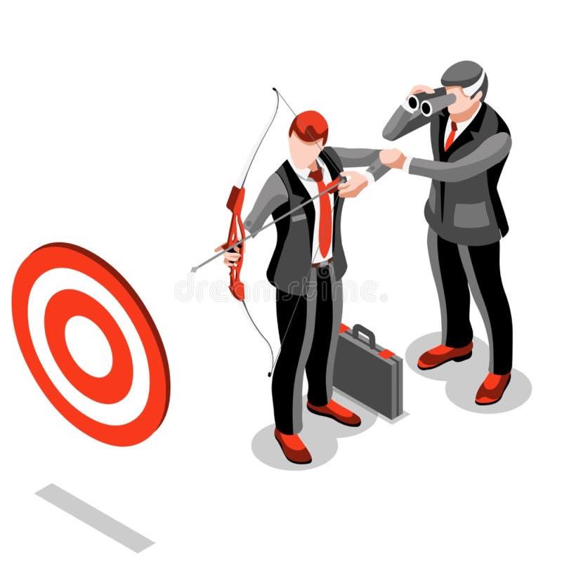 Concept ambitieux de vecteur de Job Ambitions du changement 18 d'affaires illustration stock