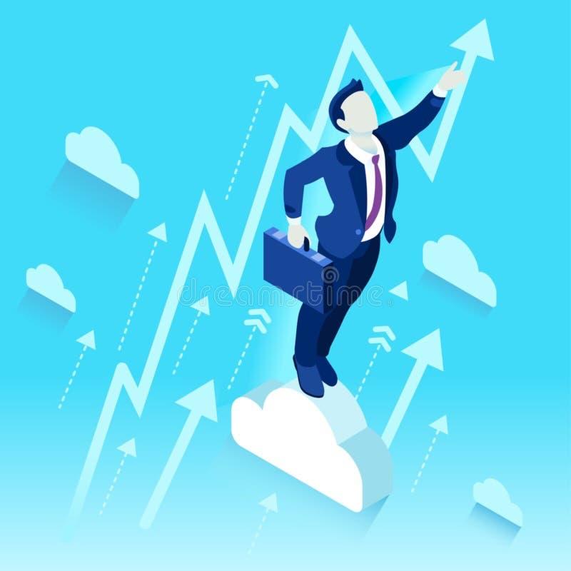 Concept ambitieux de vecteur de Job Ambitions du changement 59 d'affaires illustration stock