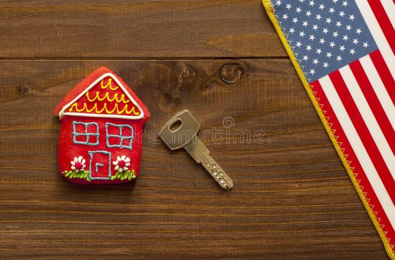Concept Amerikaans huis stock afbeeldingen