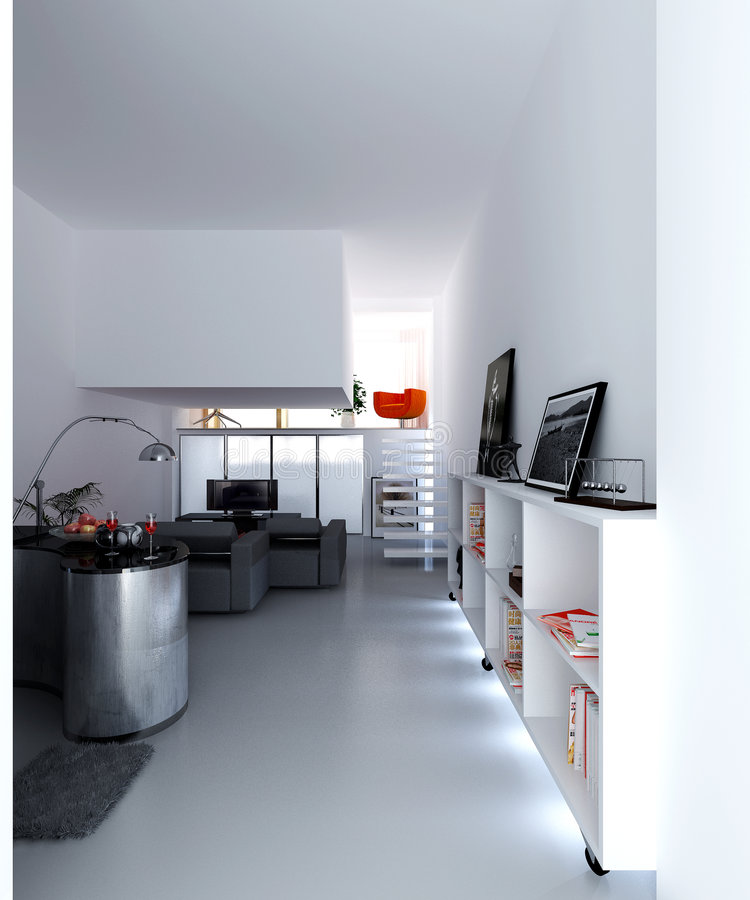 Concept apartment stock illustration