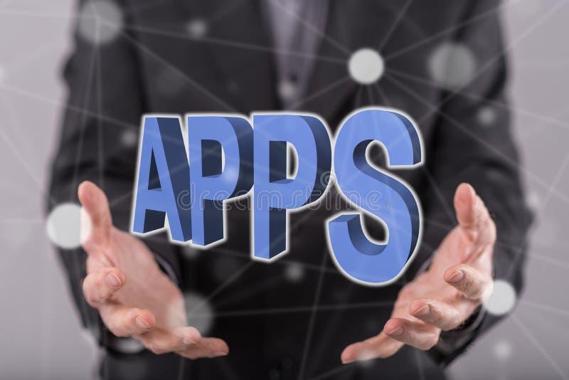 Concept apps royalty-vrije stock afbeelding