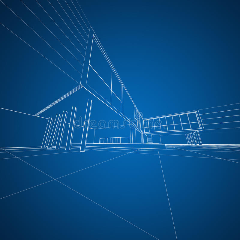 Concept architecture drafting stock illustration