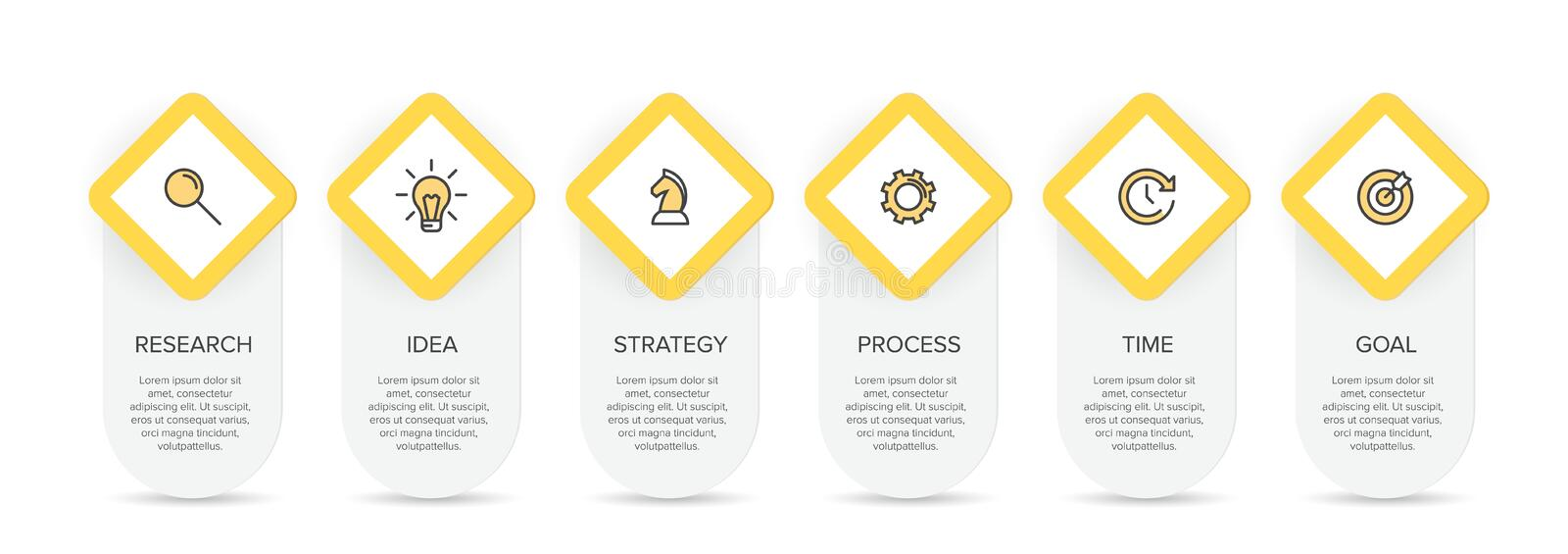 Concept of arrow business model with 6 successive isometric steps. Six colorful graphic elements. Timeline design for. Brochure, presentation. Infographic stock illustration