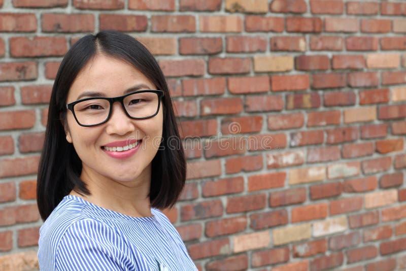 Concept asiatique de femme et de succès photographie stock