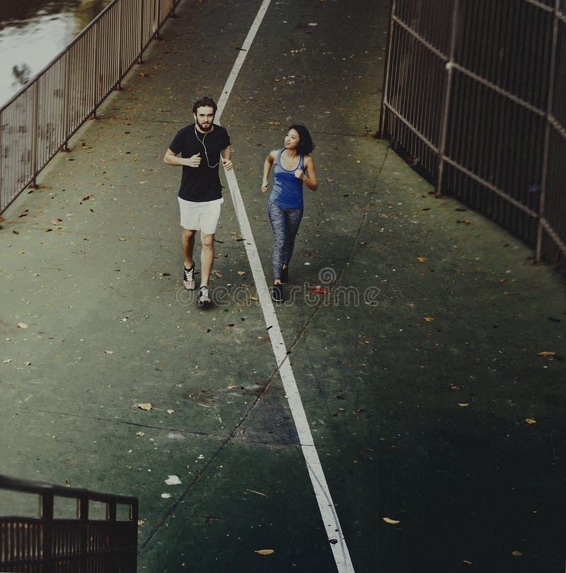 Concept attrayant de Lifestyle Sport Workout d'athlète de couples photo libre de droits