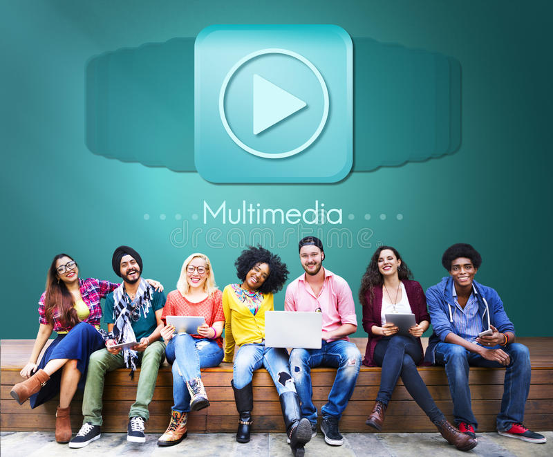 Concept audio de divertissement de Digital d'ordinateur de multimédia photo libre de droits