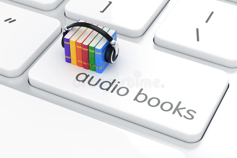 Concept audio de livre illustration stock