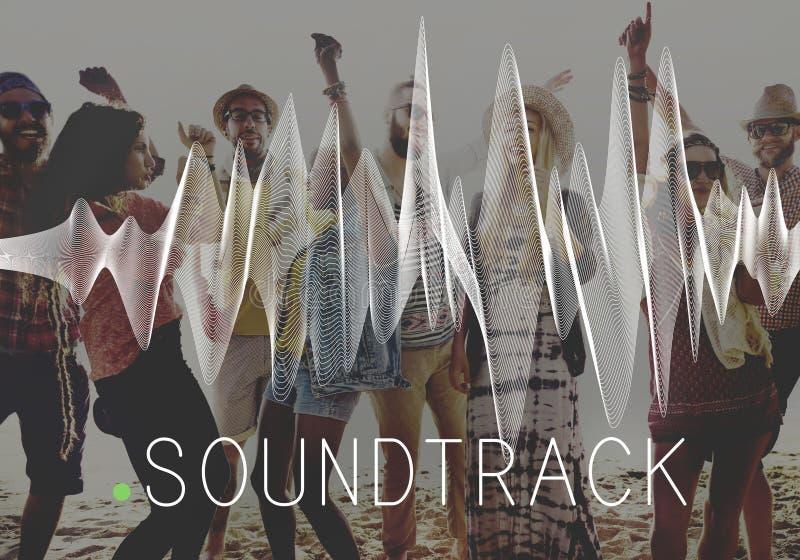 Concept audio de media d'équilibre de fond de bande sonore photos libres de droits
