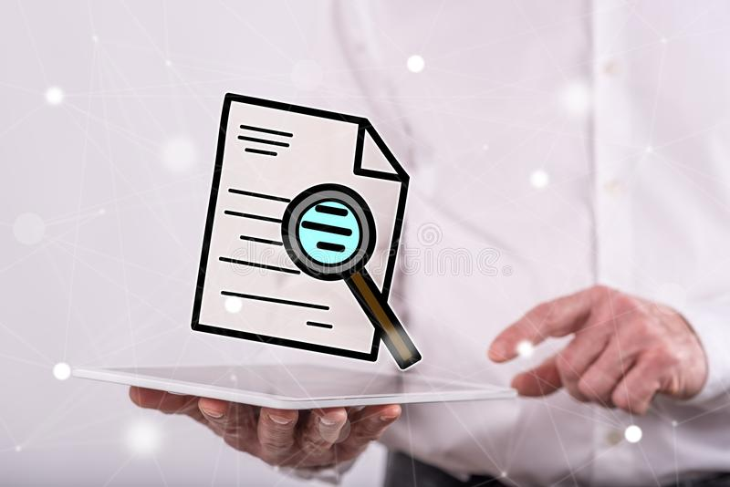 Concept of audit royalty free stock photo