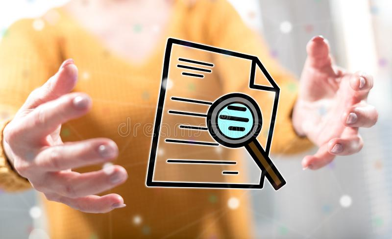Concept of audit stock photo